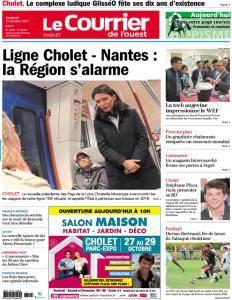 Le Courrier de l'Ouest Cholet - 27 Octobre 2017