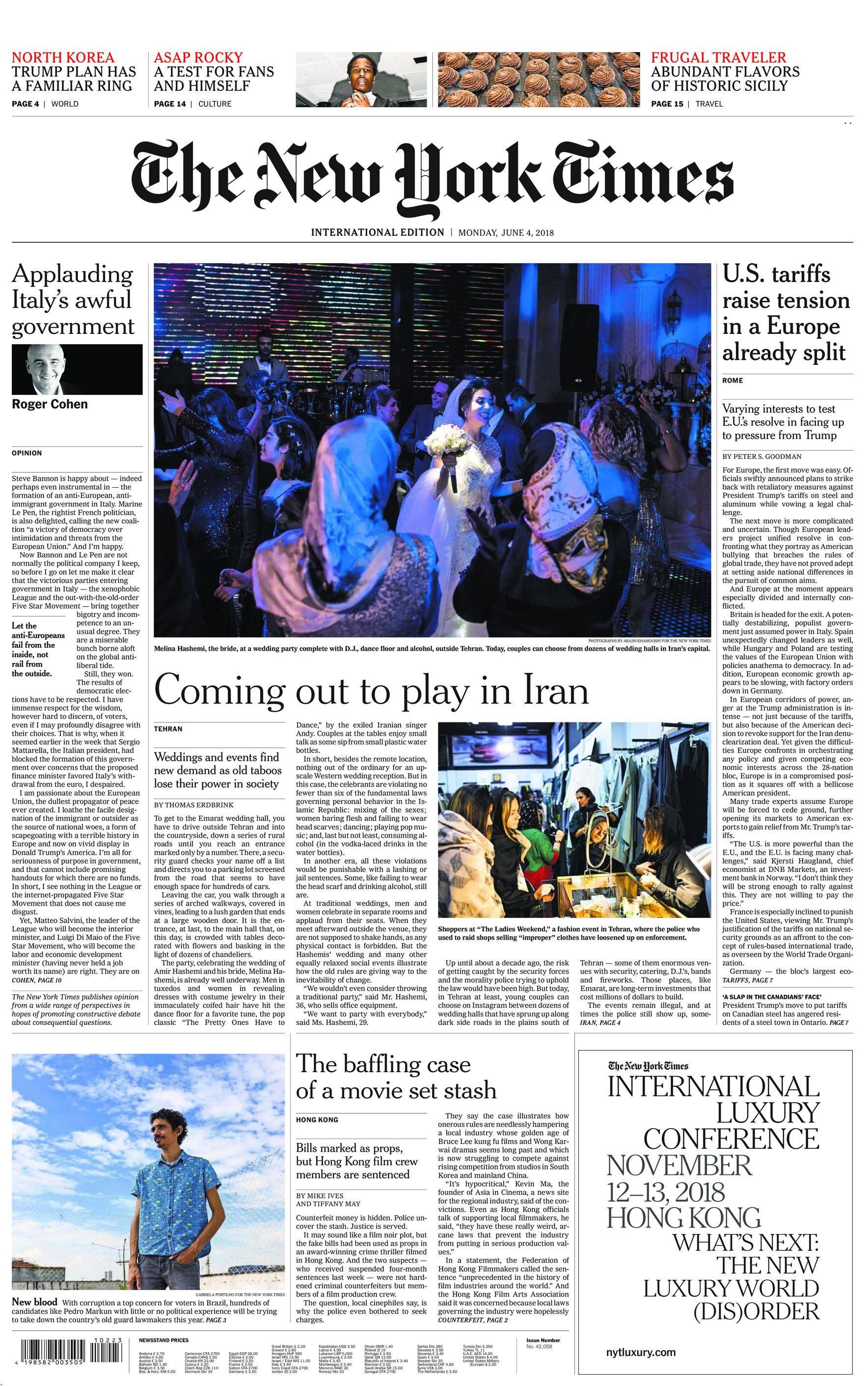 International New York Times - 04 June 2018