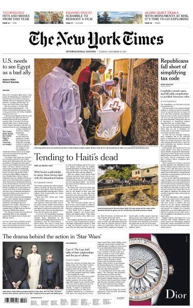 International New York Times - 19 December 2017
