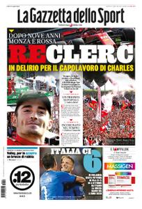 La Gazzetta dello Sport – 09 settembre 2019