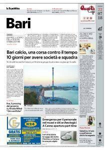 la Repubblica Bari - 22 Luglio 2018