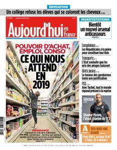 Aujourd'hui en France du Mardi 8 Janvier 2019