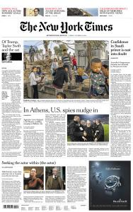 International New York Times - 12 October 2018