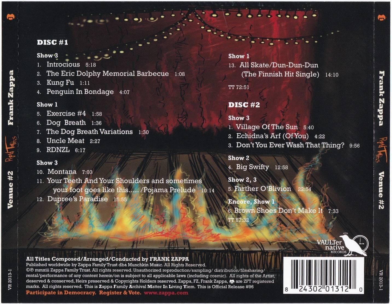 Frank Zappa Road Tapes Venue 2 2013 2cd