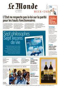 Le Monde du Samedi 30 Décembre 2017