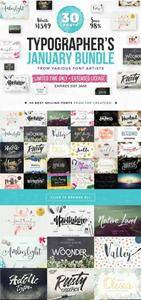 CreativeMarket - Typographer's January Dream Bundle