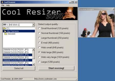 Cool Circles Cool Resizer 2007 v3.0 Thinstalled
