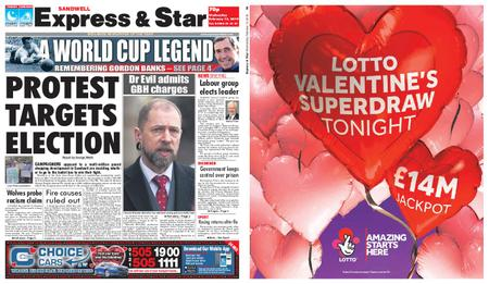 Express and Star Sandwell Edition – February 13, 2019