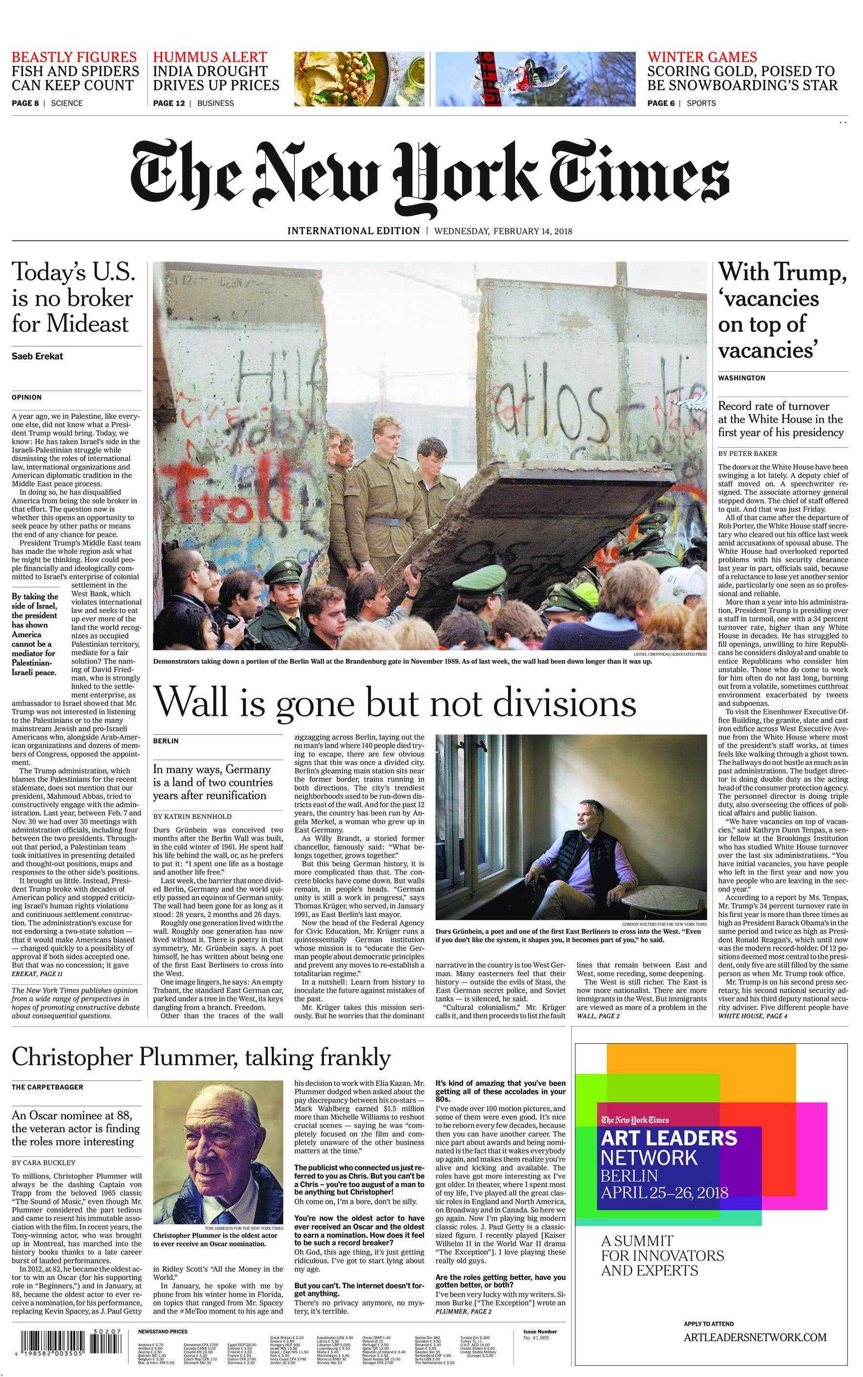 International New York Times - 14 February 2018