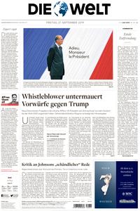 Die Welt - 27 September 2019
