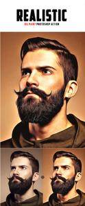 GraphicRiver - Realistic Oil Painting Photoshop Action 19995363