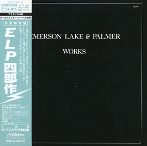 Emerson, Lake & Palmer - Works Volume 1 (1977) [Victor, VICP-78027~8, Japan]