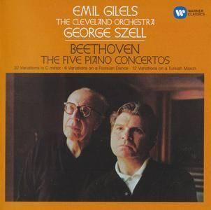 Beethoven - The Five Piano Concertos - Emil Gilels, George Szell (2017) {3CD Warner Classics 0190295895181 rec 1968-1970}