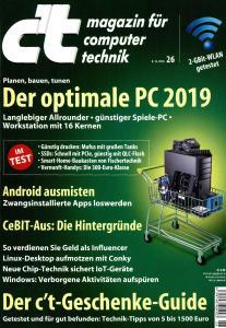 c't Magazin Nr.26 - 8 Dezember 2018
