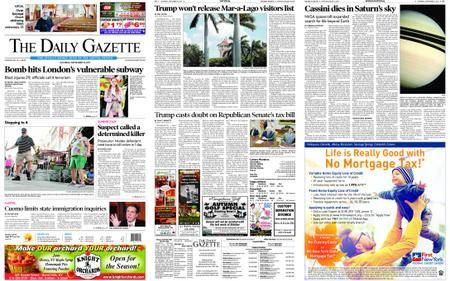 The Daily Gazette – September 16, 2017