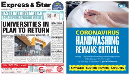 Express and Star City Edition – May 25, 2020