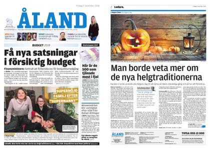 Ålandstidningen – 02 november 2018