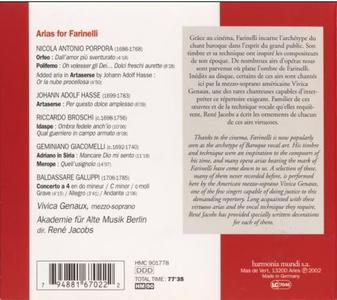 Vivica Genaux - Arias For Farinelli