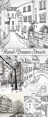Hand Drawn Streets Vector
