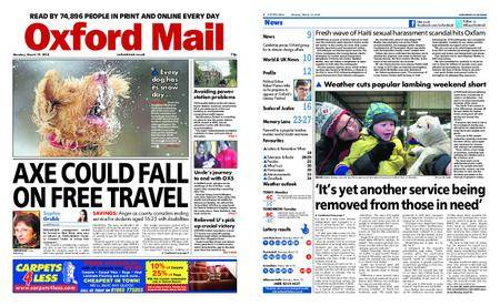 Oxford Mail – March 19, 2018
