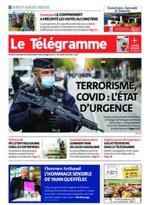 Le Télégramme Brest Abers Iroise – 30 octobre 2020