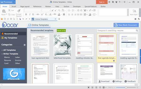 WPS Office 2016 Premium 10.2.0.5934 Multilingual Portable