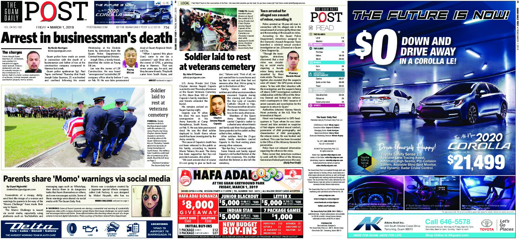 The Guam Daily Post – March 01, 2019