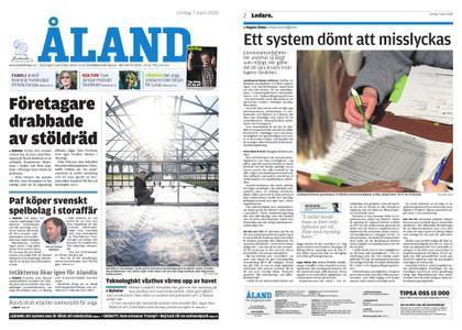 Ålandstidningen – 07 mars 2020