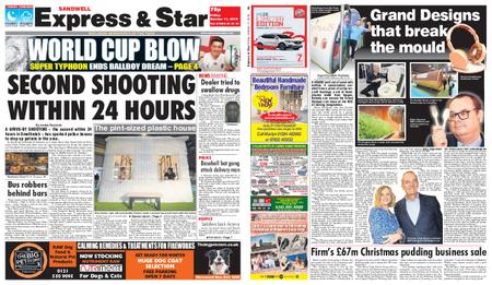 Express and Star Sandwell Edition – October 11, 2019