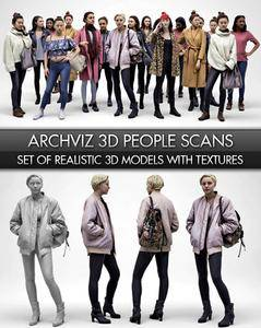 Archviz 3D Scan People Models