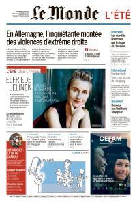 Le Monde du Vendredi 16 Août 2019
