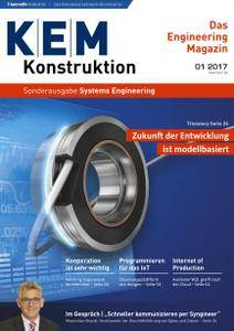 Konstruktion Entwicklung Management Sonderheft Nr.1 - Systems Engineering 2017