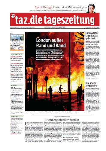 Tageszeitung TAZ vom 10 August 2011