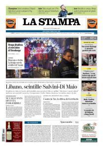 La Stampa Torino Provincia e Canavese - 12 Dicembre 2018