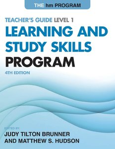 The hm Learning and Study Skills Program: Teacher's Guide Level 1, 4th Edition