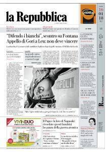 la Repubblica - 16 Gennaio 2018