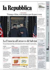 la Repubblica - 13 Giugno 2018