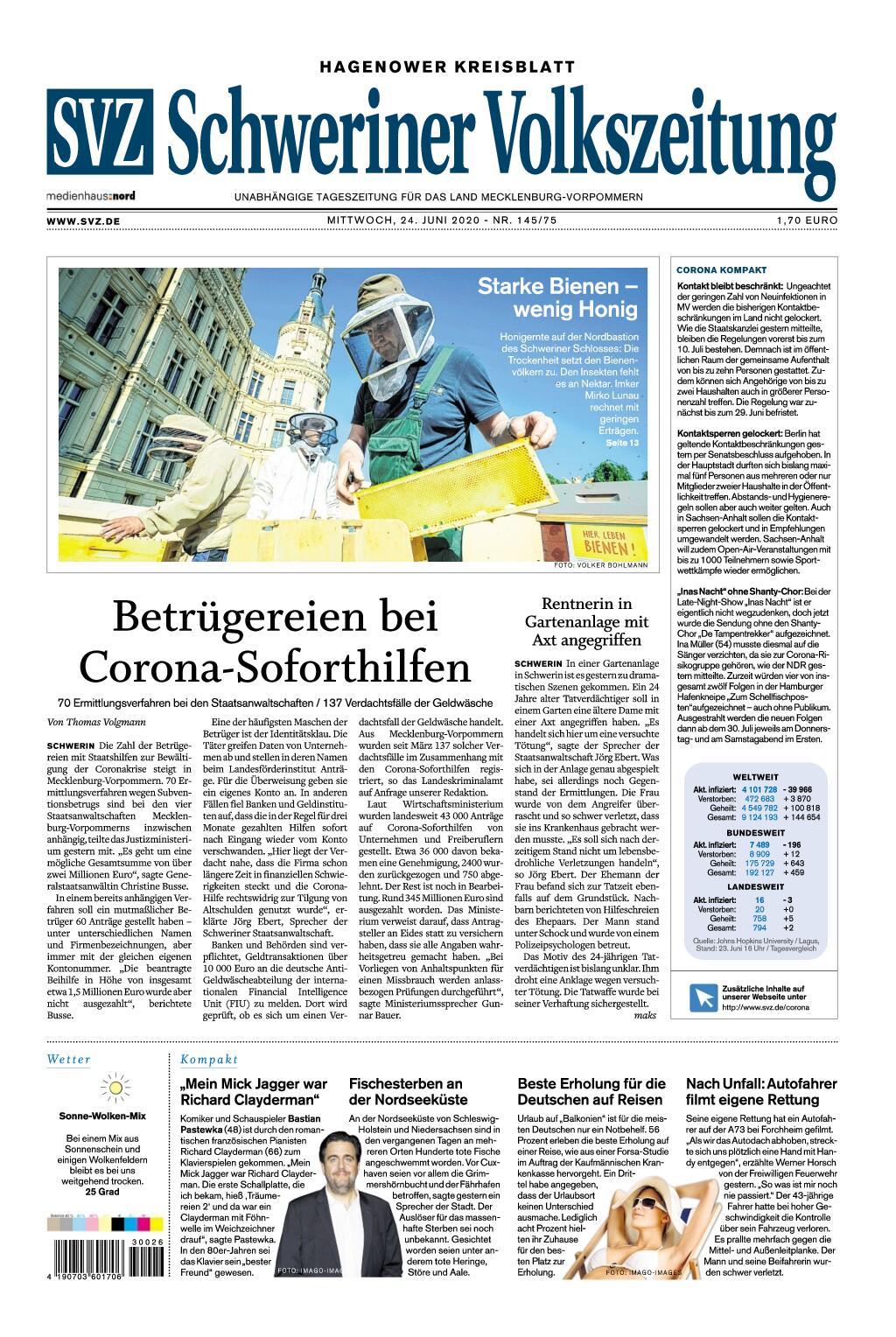 Schweriner Volkszeitung Hagenower Kreisblatt