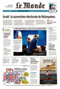 Le Monde du Mardi 9 Avril 2019