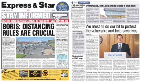 Express and Star City Edition – March 23, 2020