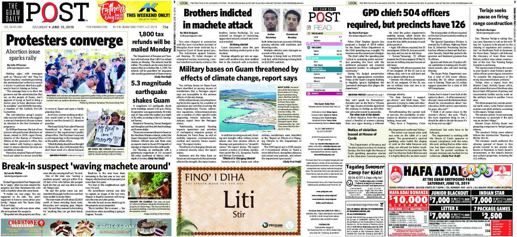 The Guam Daily Post – June 15, 2019