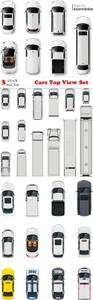 Vectors - Cars Top View Set 2