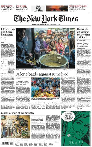 International New York Times - 29 December 2017