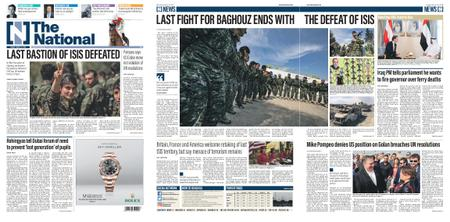The National (UAE) – March 24, 2019