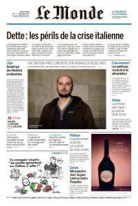 Le Monde du Jeudi 31 Mai 2018