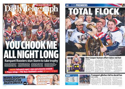 The Daily Telegraph (Sydney) – October 01, 2018
