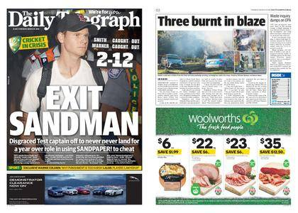 The Daily Telegraph (Sydney) – March 29, 2018