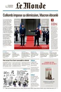 Le Monde du Jeudi 4 Octobre 2018