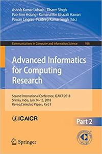Advanced Informatics for Computing Research: Second International Conference, ICAICR 2018, Part II