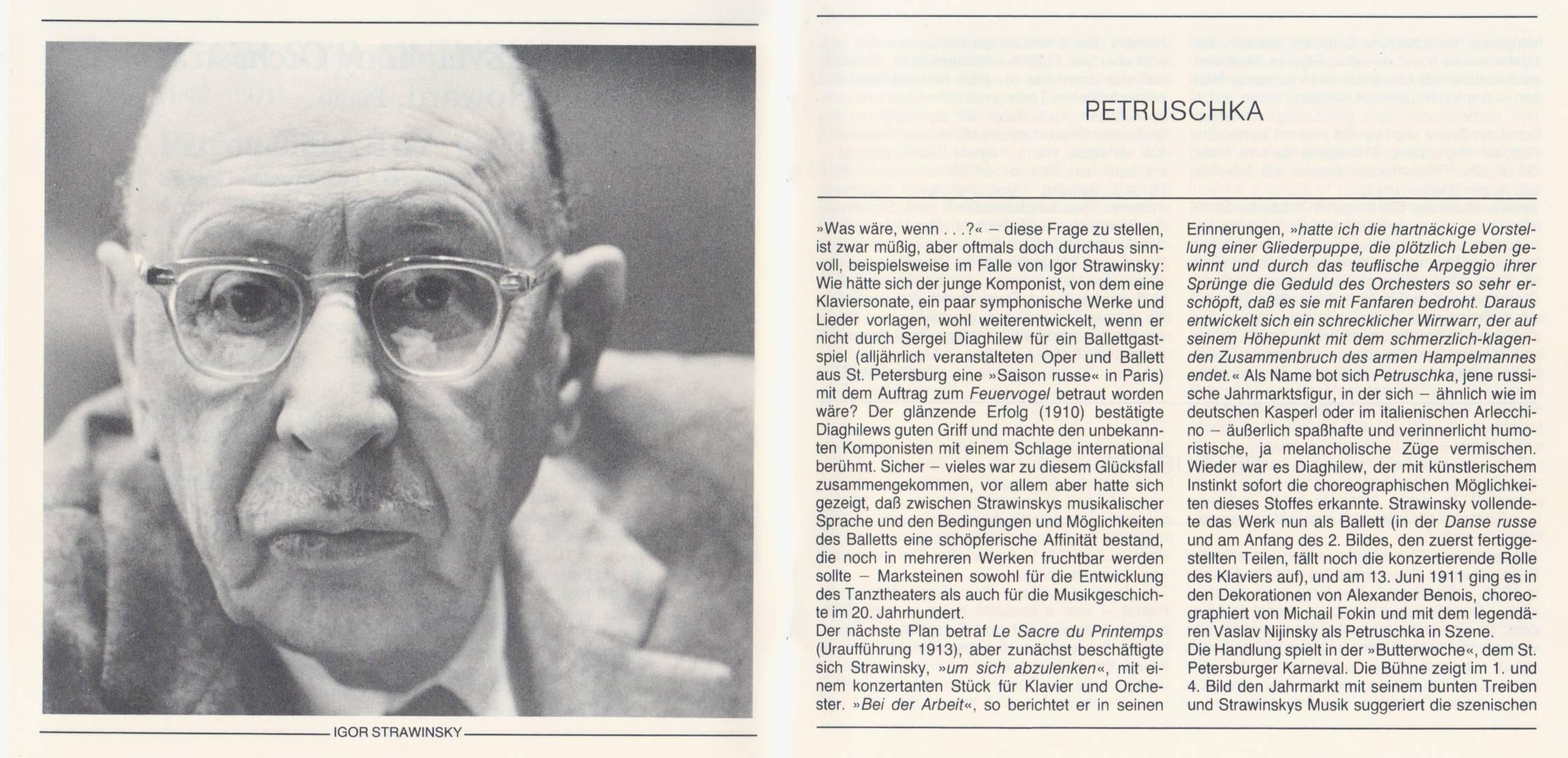 Stravinsky - Petrouchka (original 1911 version) - LSO, Abbado (1981) {Deutsche Grammophon 400 042-2}